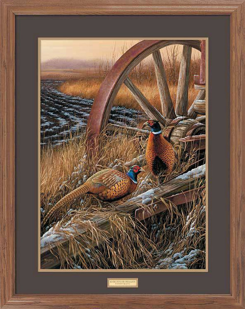 Quot Ring Necked Wagon Quot Pheasants Framed Wildlife Art Print
