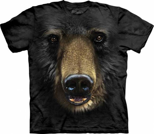 Black Bear Face T Shirt