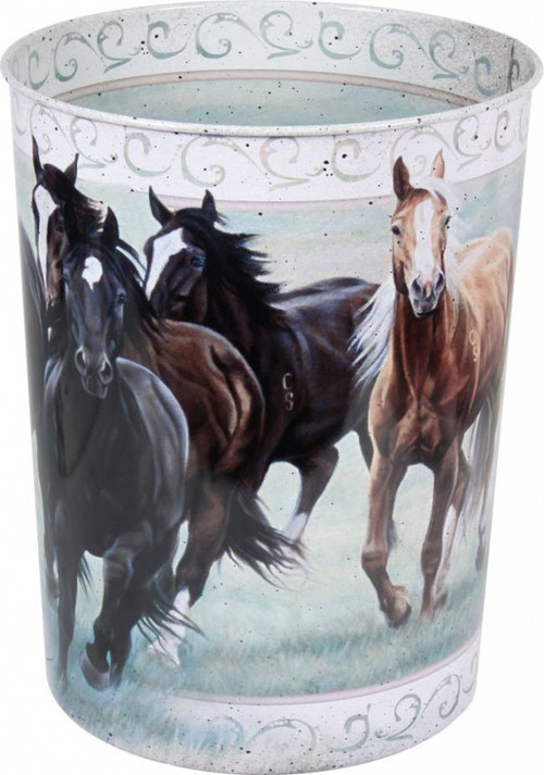 Horses Trash Can