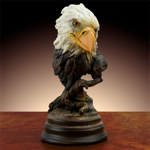 Bald Eagle Head Bust Sculpture