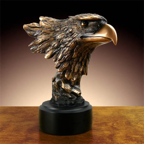 Bald Eagle Head Bronze Sculpture
