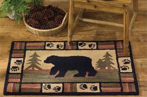 Adirondack Black Bear Hook Rug