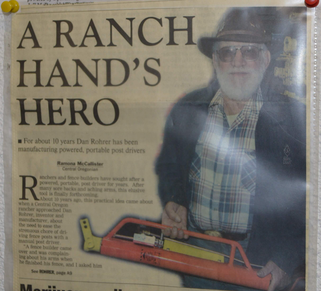 Dan Rohrer: Inventor of Mansaver Postdriver