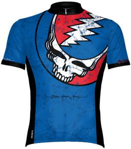 Primal Wear Grateful Dead Steal Your Face Lightning Skull Men's Short Sleeve Cycling Jersey with DeFeet Socks