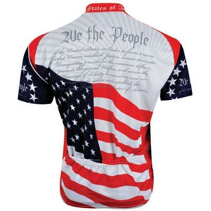 "U.S. Constitution ""We The People""  Cycling Jersey by World Jerseys Short Sleeve Mens with Socks"