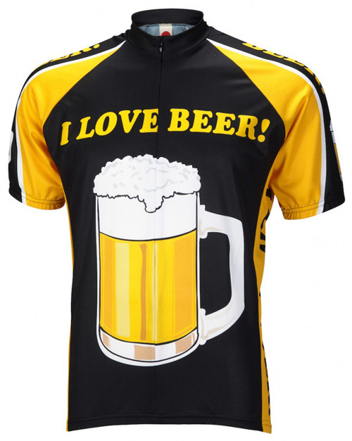 I Love Beer Cycling Jersey By World Jerseys Mens Short Sleeve Plus