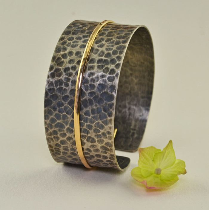 Adjustable handcrafted cuff bracelets: view 1