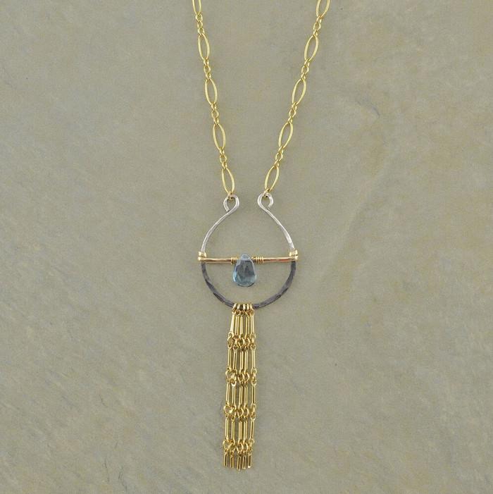 Tassels & Blue Topaz Necklace: view 1