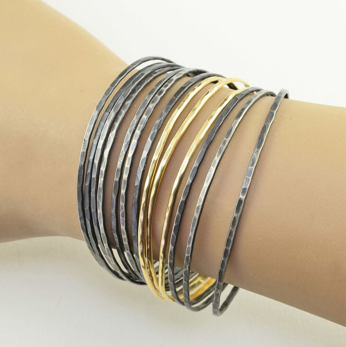 lightweight handmade bracelets made with sterling silver
