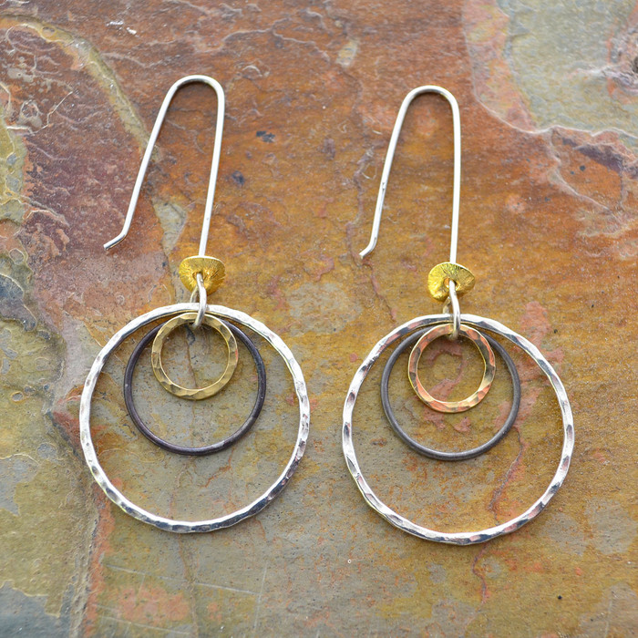 unique handcrafted earrings with metal materials: view 1