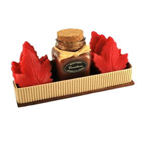 Maple Candle & Red Soap Gift Box