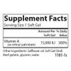 Vitamin A 15K Palmitate 120 softgels