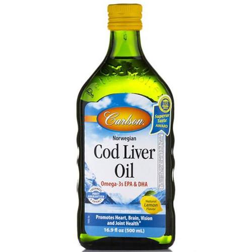 Cod Liver Oil 16.9 oz. (500 ml) LEMON