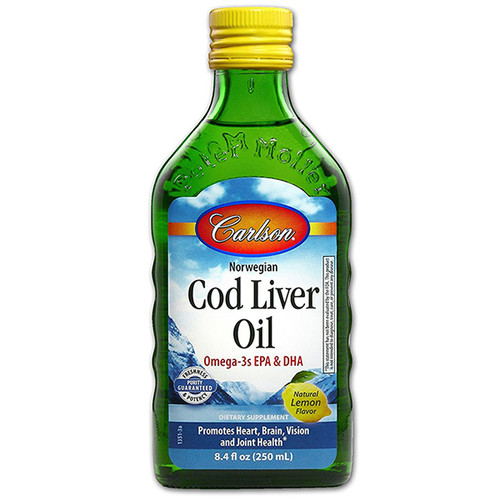 Cod Liver  Oil 8.4 oz LEMON