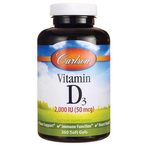 Vitamin D3 2000 IU 360 softgels