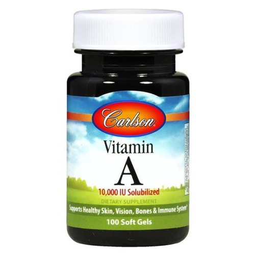 Vitamin A 10K IU Solubilized 100 softgels