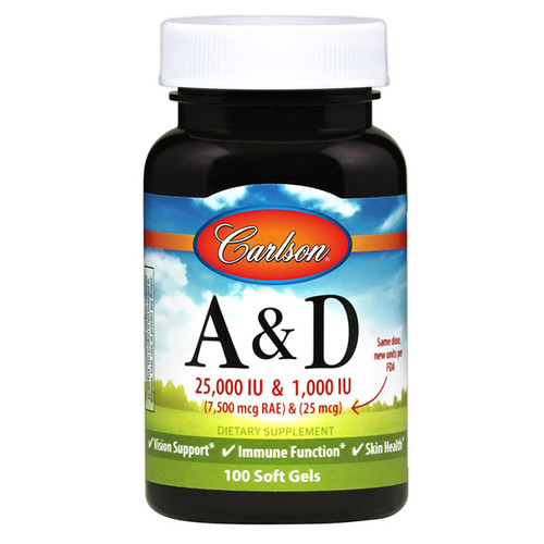 Vitamin A & D 25,000 / 1,000 IU 100 softgels