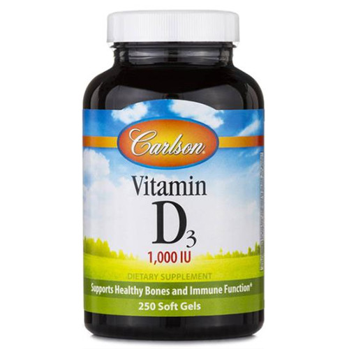 Vitamin D3 1000 IU 250 softgels