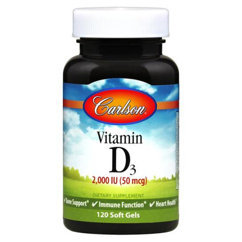 Vitamin D3 2000 IU 120 softgels