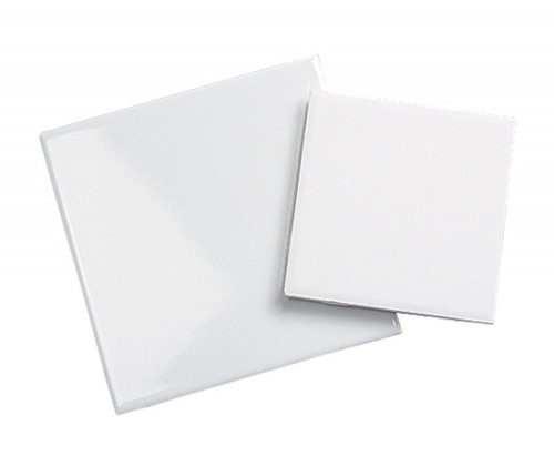 "4.25"" x 4.25"" White Glazed Tile - 100 per case"