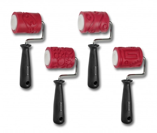 AMACO 2 Textured Roller - Class Pack 4 Handles & 4 Sleeves