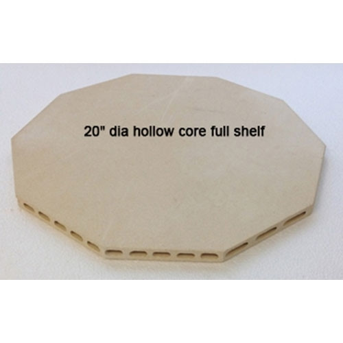 "Hollow Core High Alumina 20"" Full Shelf - 3/4"" Thick"