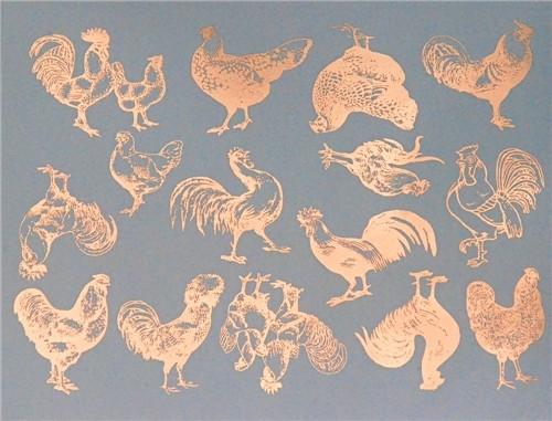 Vintage Chickens Copper