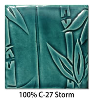 Tile glazed with 100-percent C-27 Storm