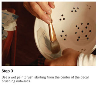 Step 3 to apply Sanbao ceramic decals