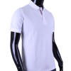 BCPOLO Men's Polo Shirt Short Sleeves Shirt White Cotton Polo Shirt
