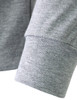 mock neck melange-sleeve detail