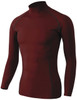 Active Base Layers Stretch Long Sleeves Half Turtle Neck T-Shirt-Unisex