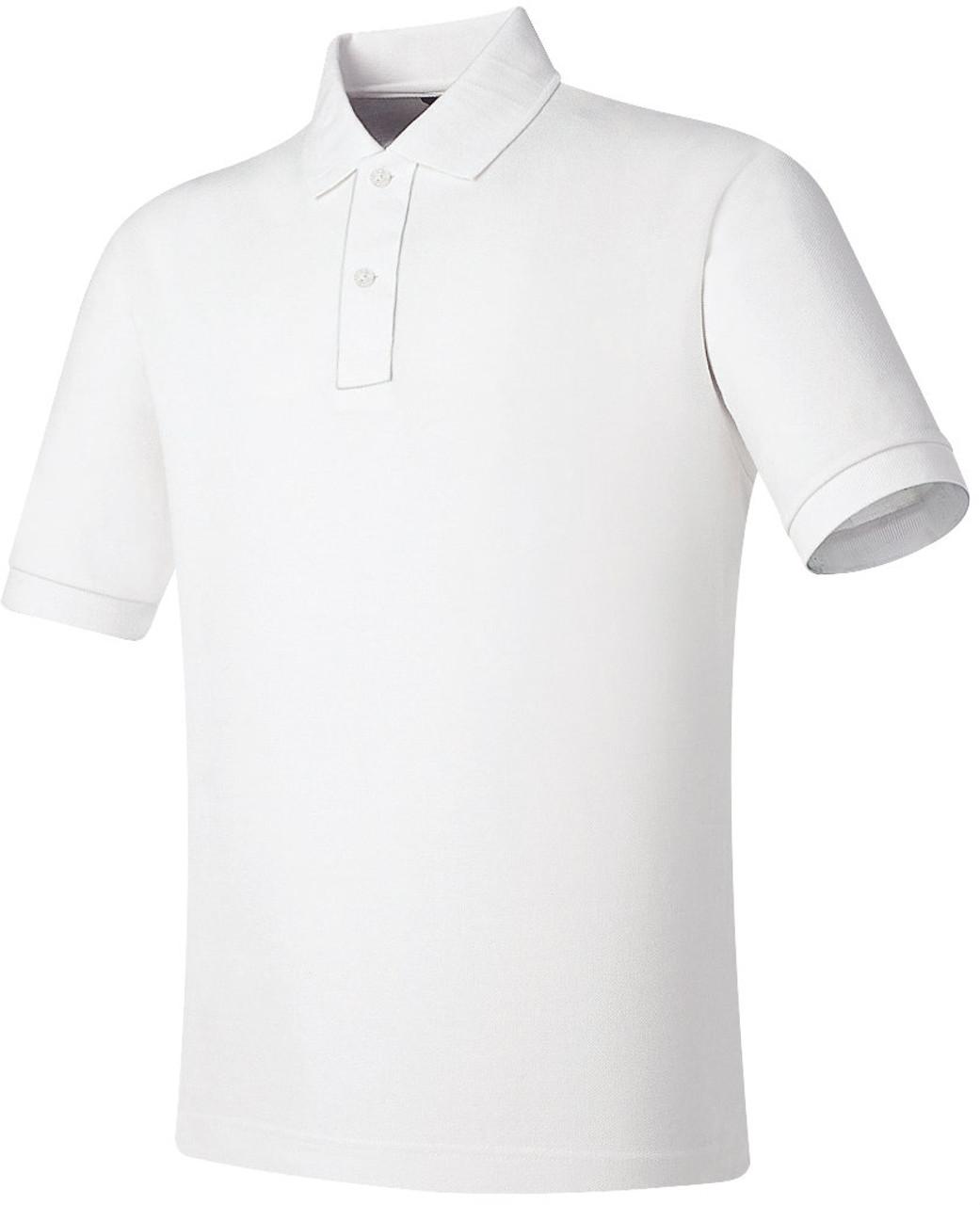 white Cotton P.K Polo shirt side placket