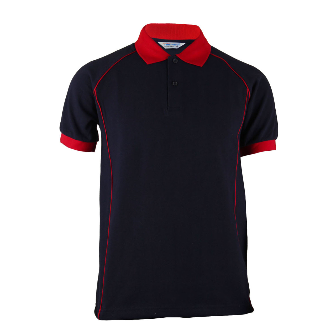 BCPOLO Men\u0027s Fashion Cotton Polo Navy Shirt Red Design Point Short Sleeves  Shirt