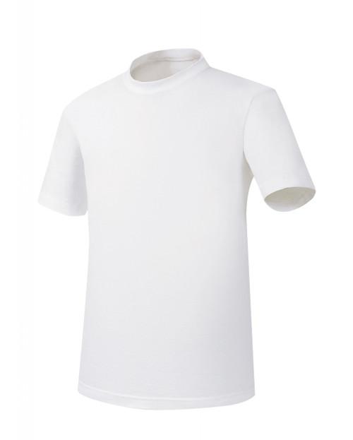 Bcpolo White Round T-Shirt Basic T-Shirt Short sleeves, 100% Cotton Unisex Plain T-Shirt.