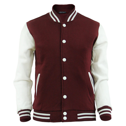 Men's Sweatshirt Baseball Jacket Varsity,Letterman Jacket Wine Cotton Jacket