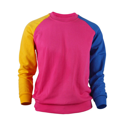 Casual Raglan Crew Neck Long Sleeve T-Shirt_Pink