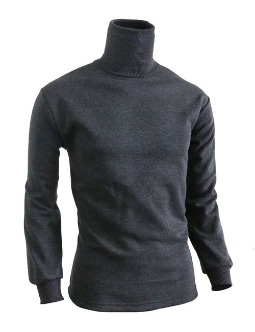 BCPOLO Men's Turtleneck Long Sleeves warm sweat shirt_charcoal