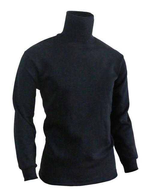 BCPOLO Men's Turtleneck Long Sleeves warm sweat shirt_black