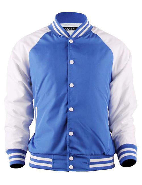 Varsity Quilted Lightweight Baseball Jacket_BLUE