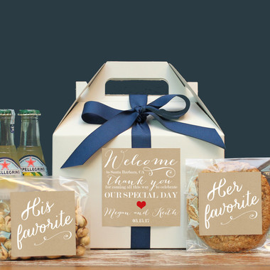Wedding Welcome Boxes - Welcome Label Design