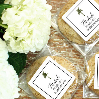 Cellophane Treat Bags with Vintage Palm Labels