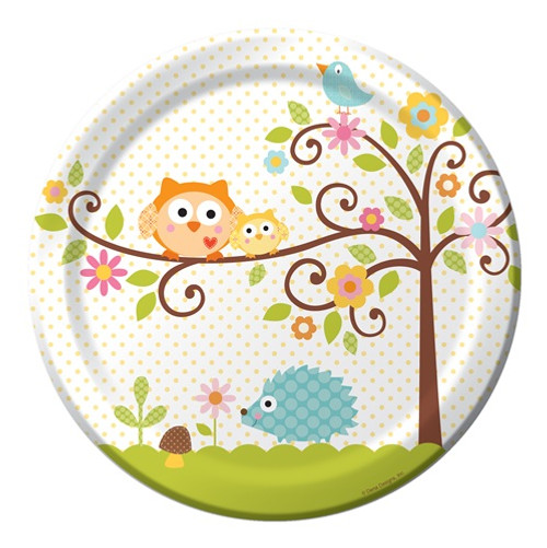Woodland Happi Tree Dinner Plates (8)