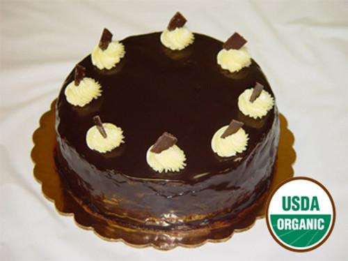 Delicious cake with chocolate cream!