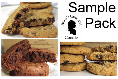 A sample package of cookies and brownies to try before you order corporate gifts