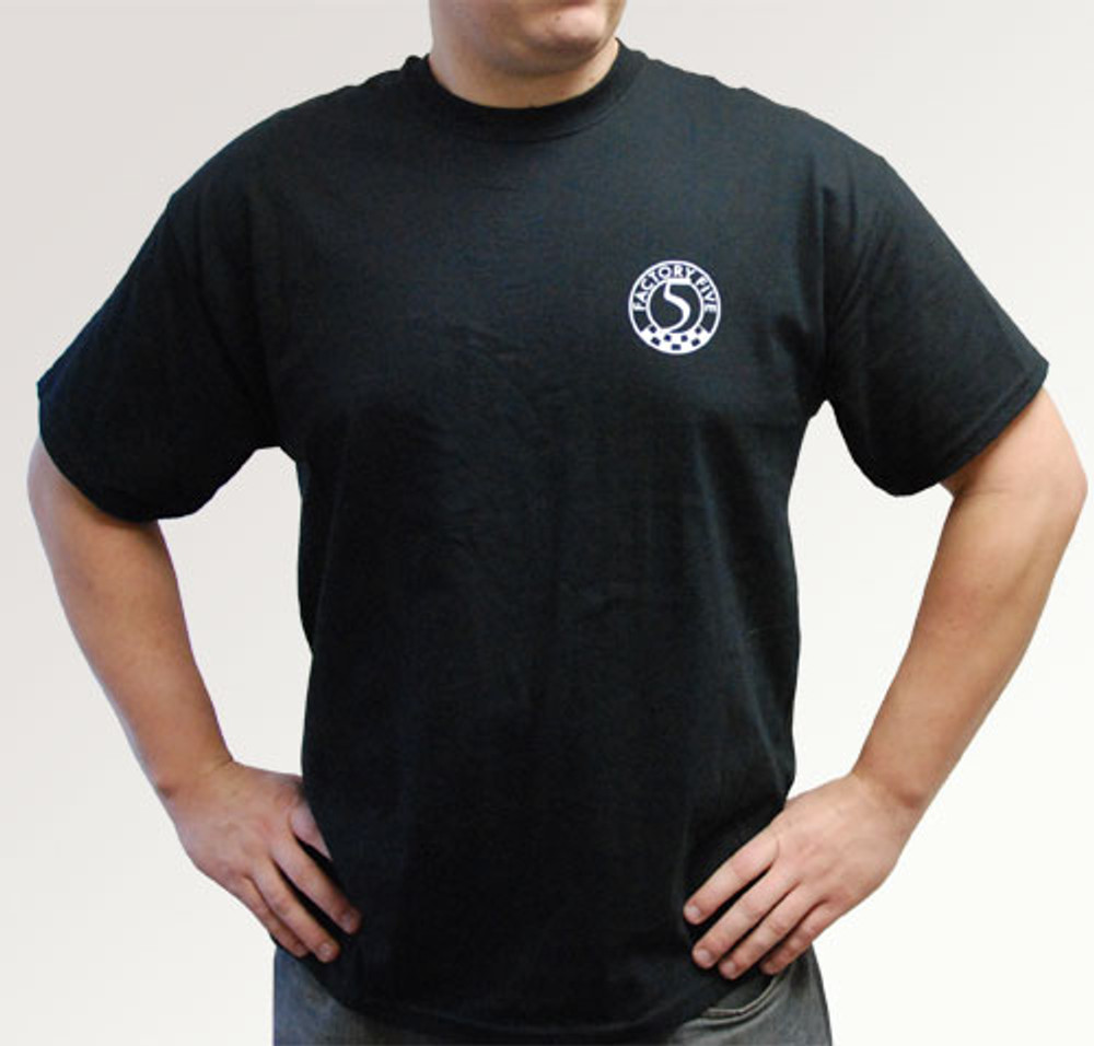 #15110 - Factory Five T-Shirt w/ Five Cars on Back - Short Sleeve