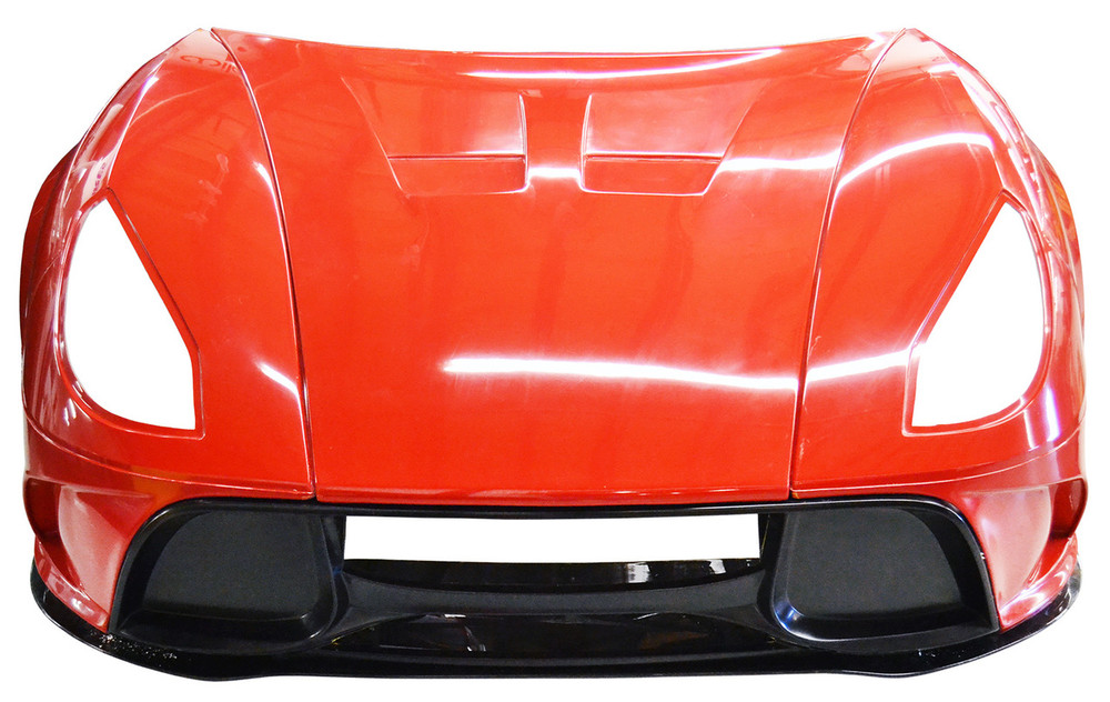 This assembly does not include the carbon fiber front splitter.