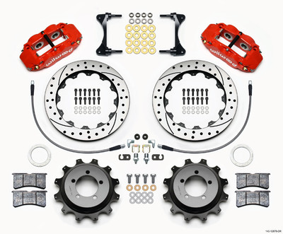 "Black Wilwood 13"" Front & 12.88"" Rear Brake Kit"