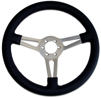 "#12451 - 14"" Leather Steering Wheel"