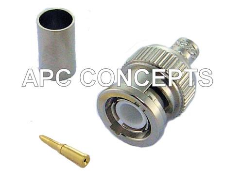 RG59 3 Part BNC Crimp Suitable For RG59 Cable